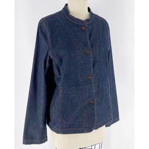 Eileen Fisher   Mandarin Collar Button Jacket~M